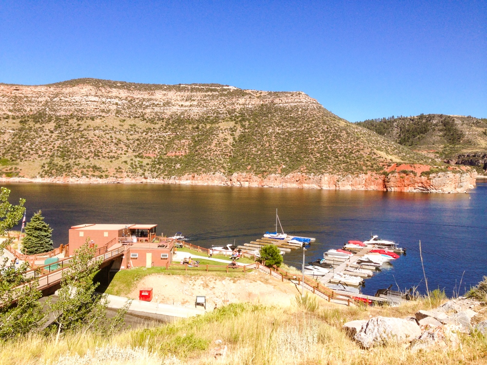 Bighorn Canyon dock where boats can launch