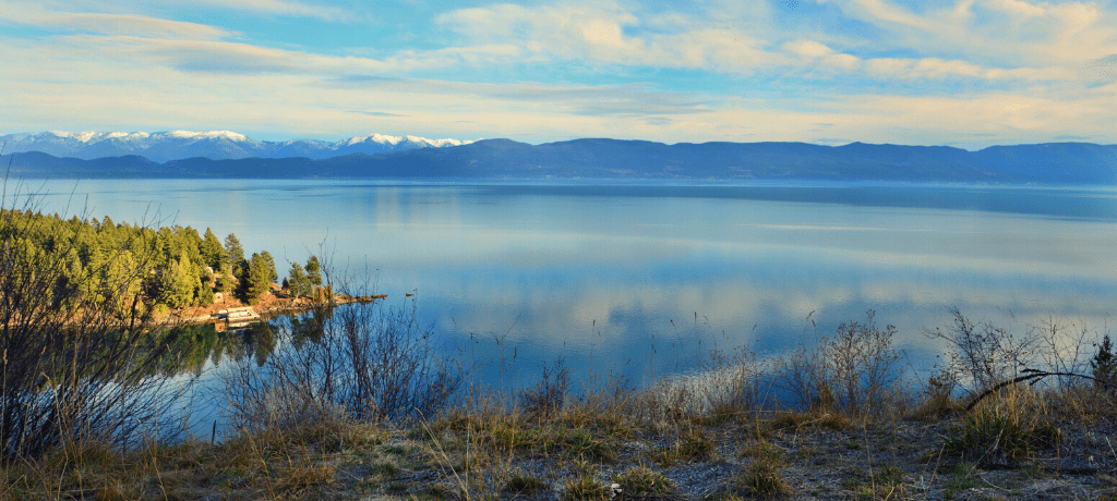 Serene and Beautiful Flathead Lake in Montana